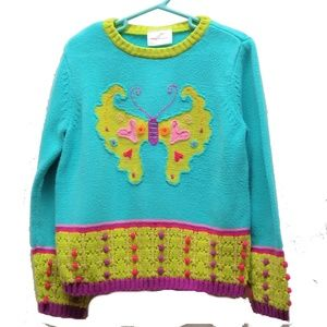 Hanna Andersson  Blue Butterfly Sweater 120 / 6